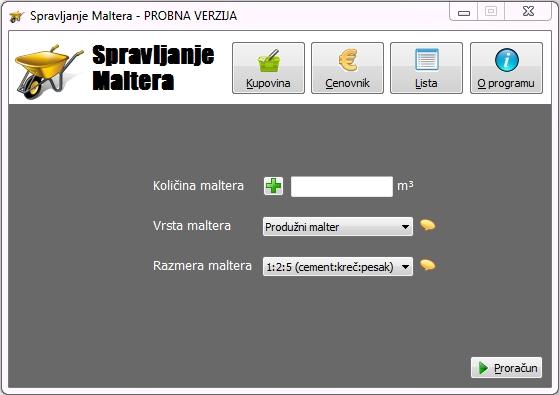 Spravljanje Maltera 1.15