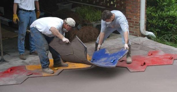 Štampani beton - Utiskivanja forme